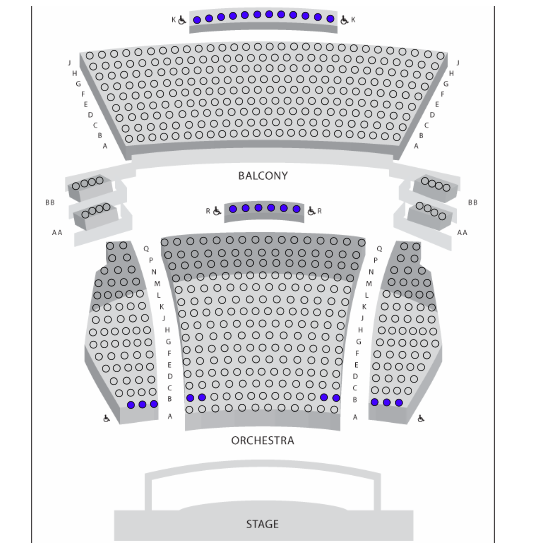 Paramount Center Accessible Seating Map